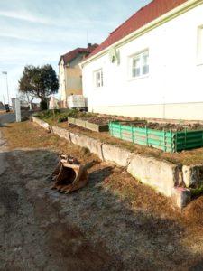 Základy pro gambionový plot